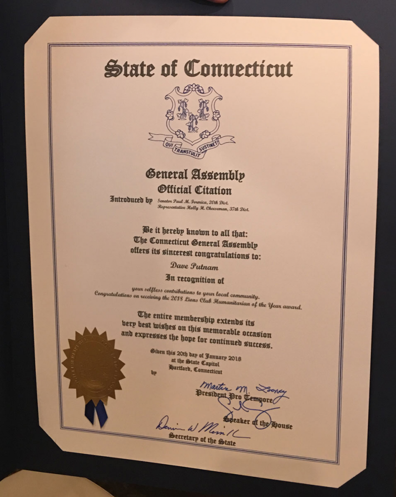 Connecticut State Legislature Citation